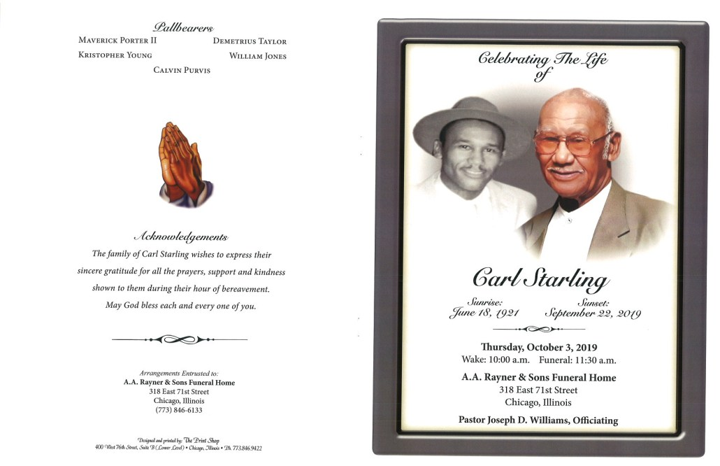 Carl Starling Obituary
