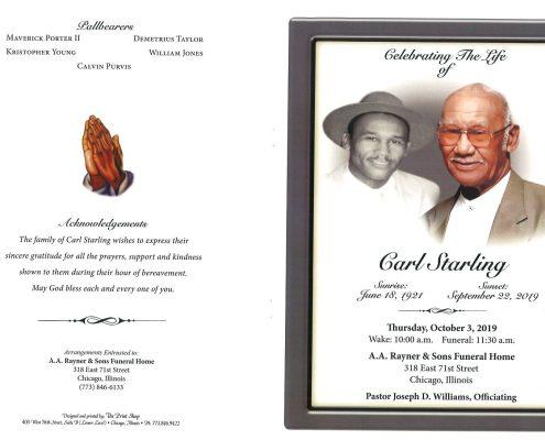 Carl Starling Obituary