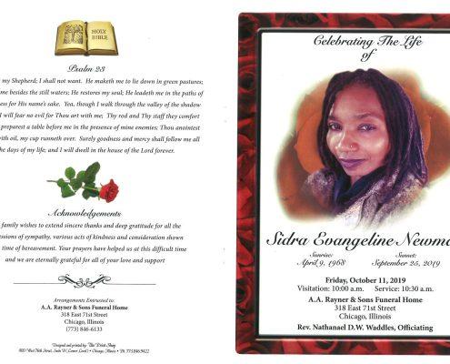 Sidra Evangeline Newman Obituary