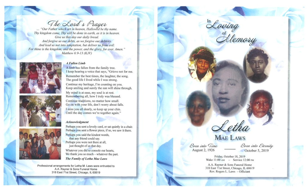 Letha Mae Laws Obituary