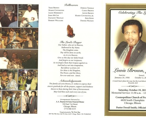 Lewis Brown Obituary