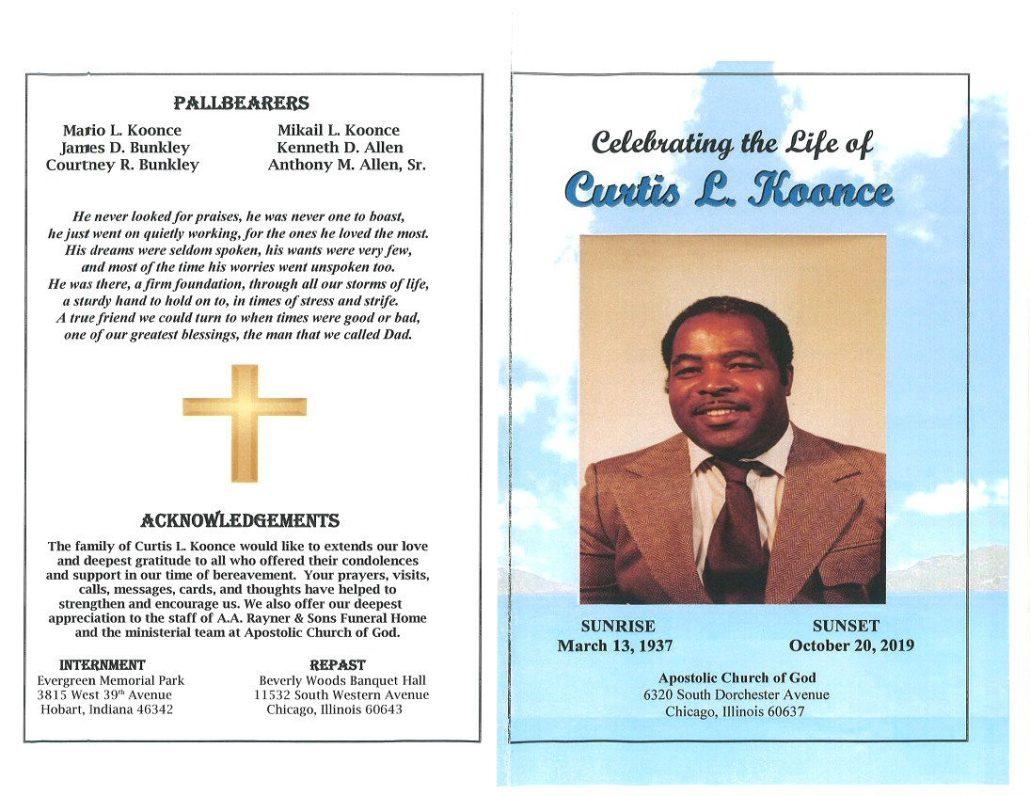 Curtis L Koonce Obituary