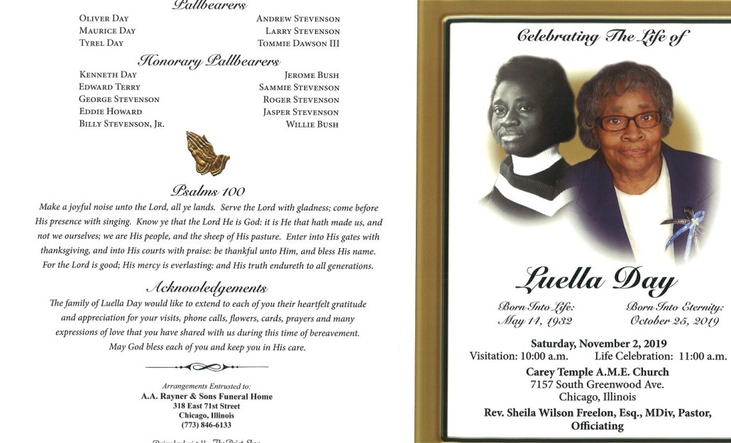 Luella Day Obituary