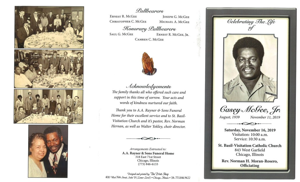 Casey McGee Jr Obituary