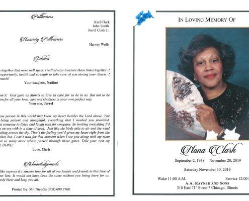 Nona Clark Obituary