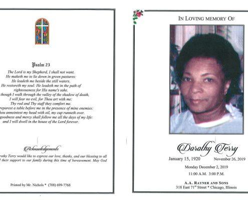 Dorothy Terry Obituary