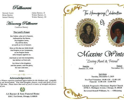 Maxine Winters Obituary