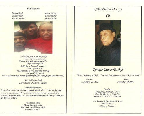 Tyrone J Tucker Obituary
