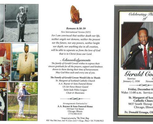 Gerald Cowan Obituary