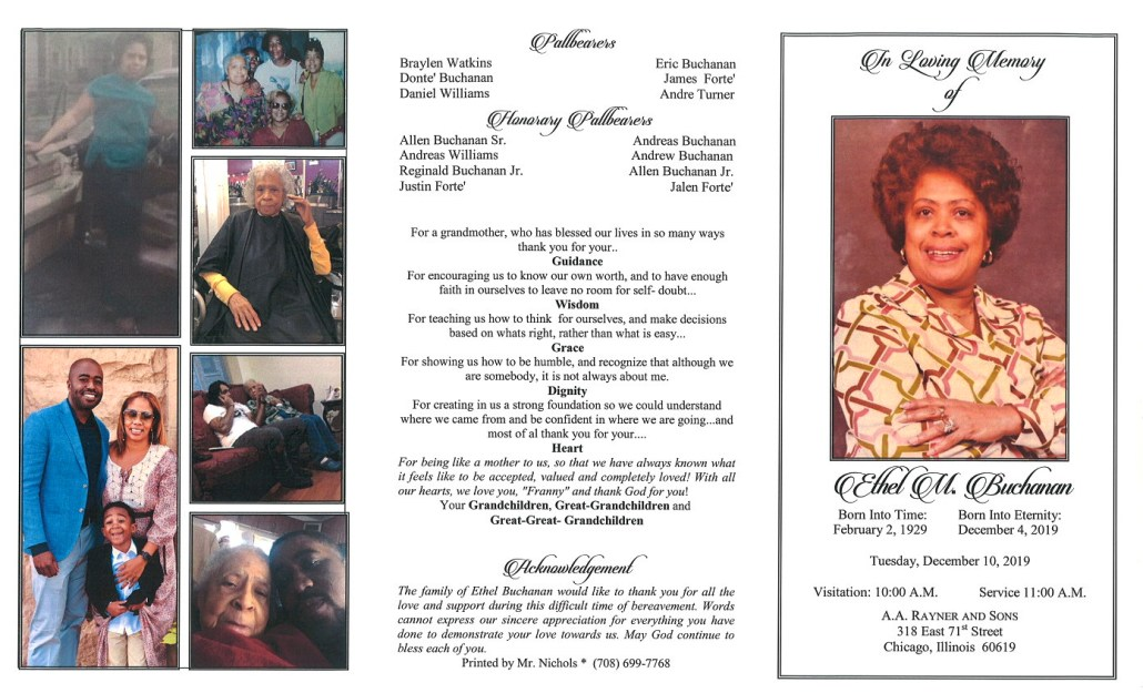 Ethel M Buchanan Obituary