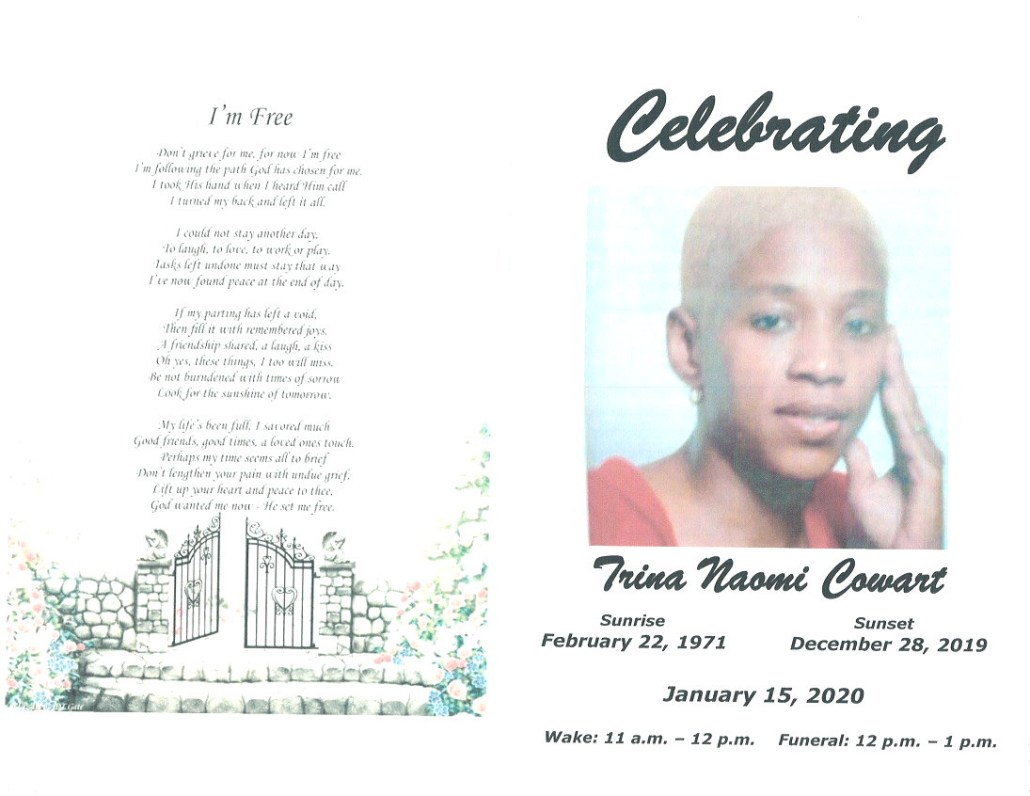Trina N Cowart Obituary