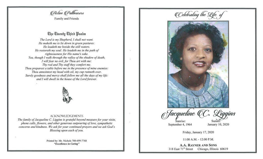 Jacqueline C Liggins Obituary