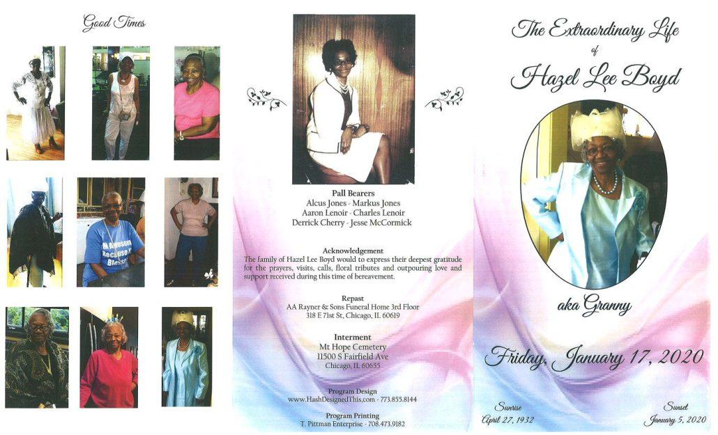 Hazel L Boyd Obituary