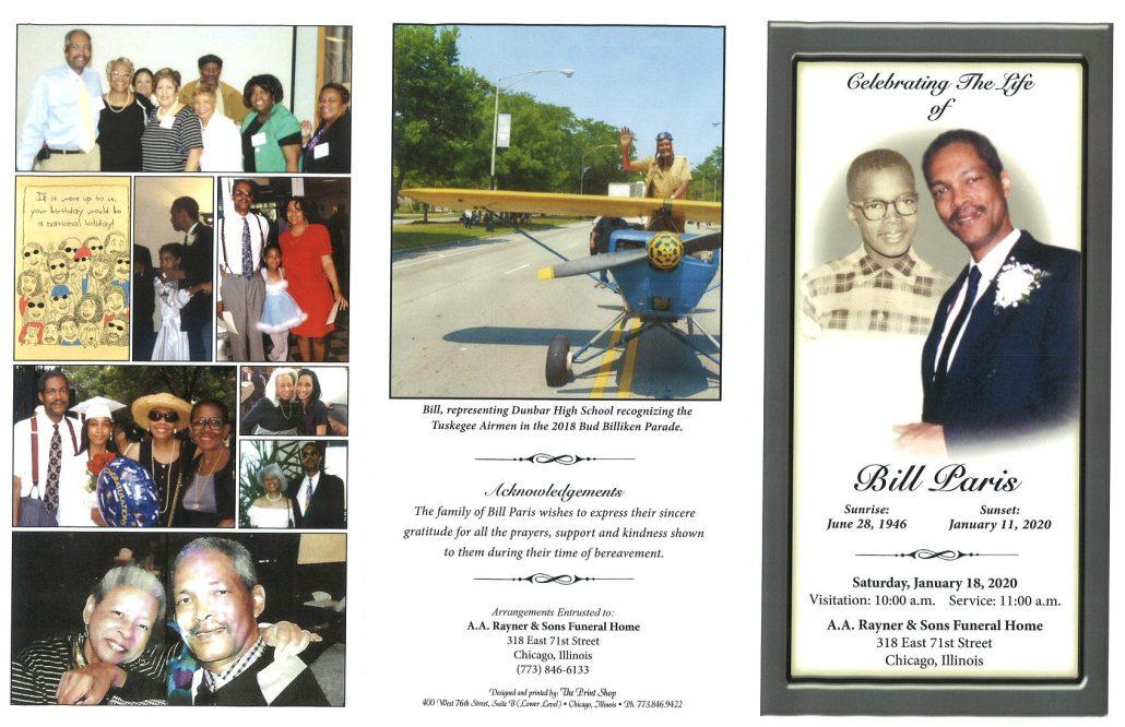 Bill Paris Obituary