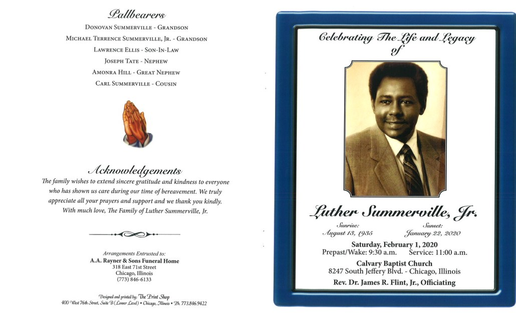 Luther Summerville Jr Obituary