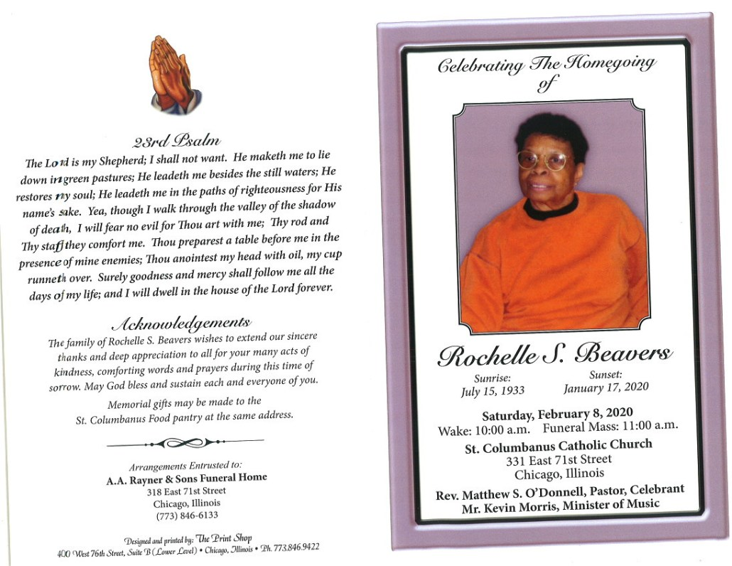 Rochelle S Beavers Obituary