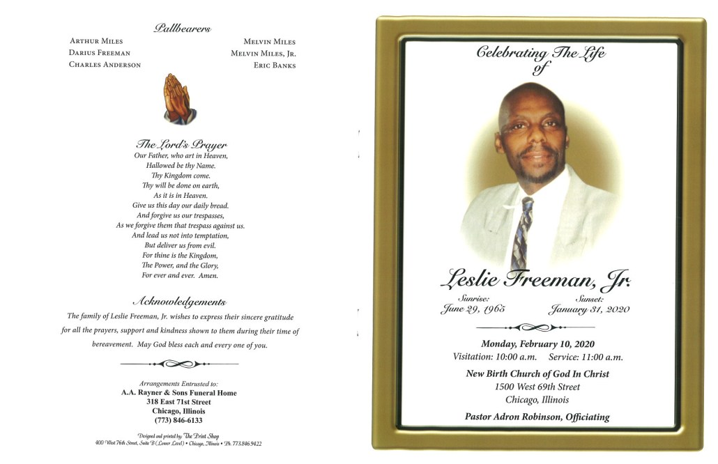 Leslie Freeman Jr Obituary