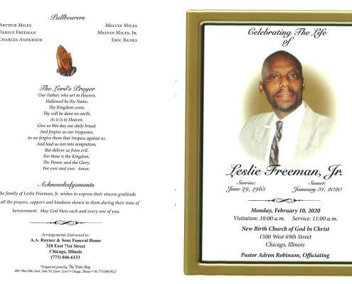 Leslie Freeman Jr Obituary