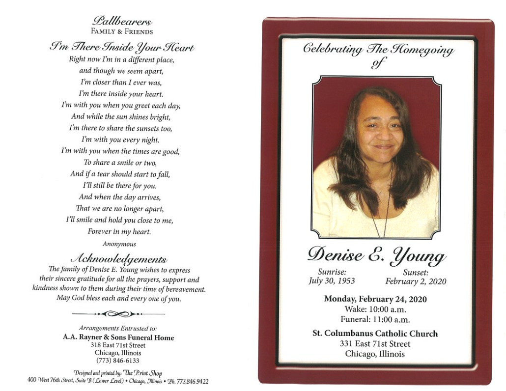 Denise E Young Obituary