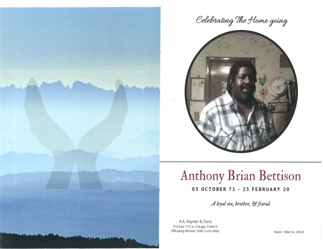 Anthony B Bettison Obituary