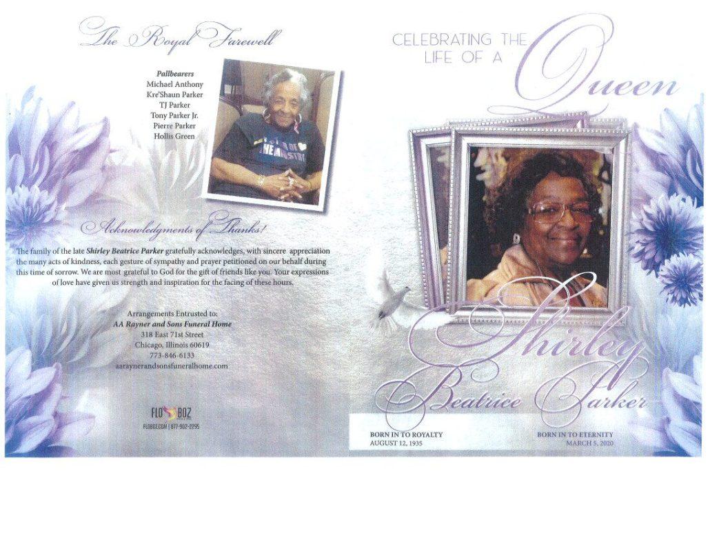 Shirley Parker Obituary