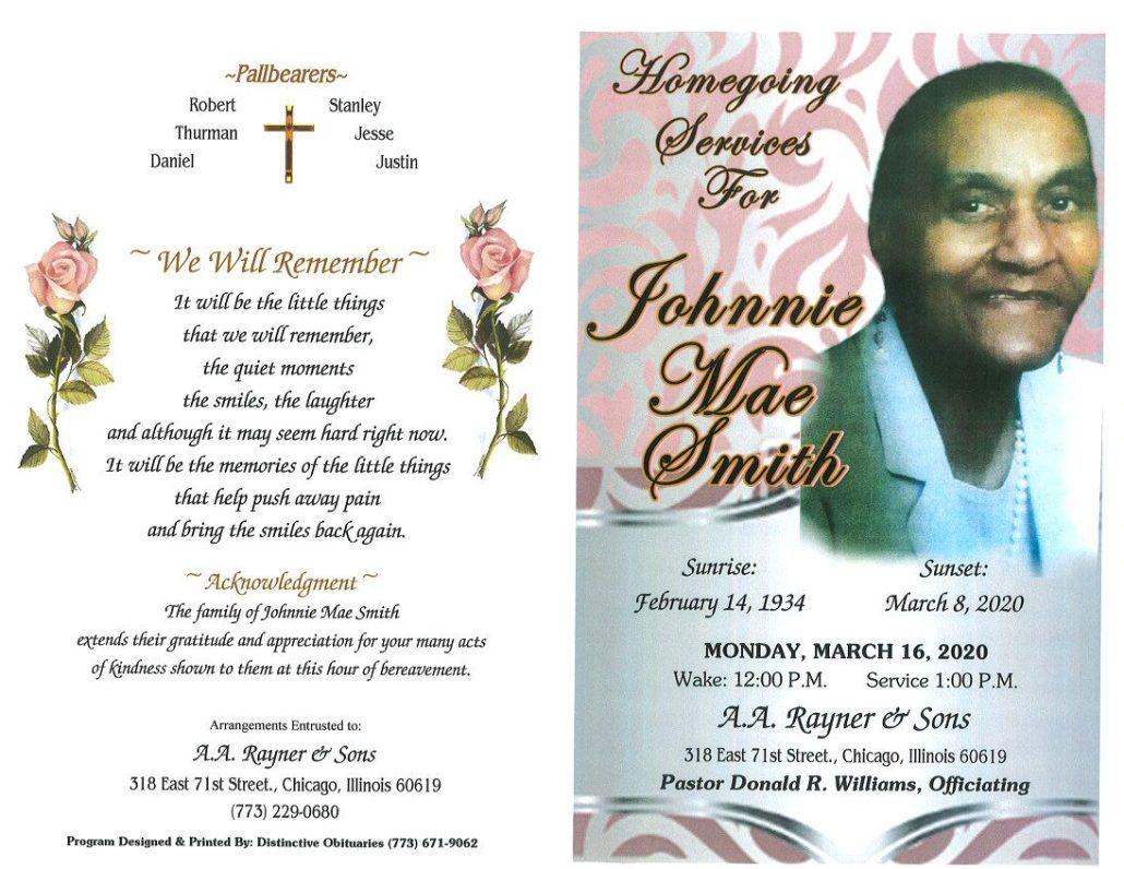 Johnnie M Smith Obituary