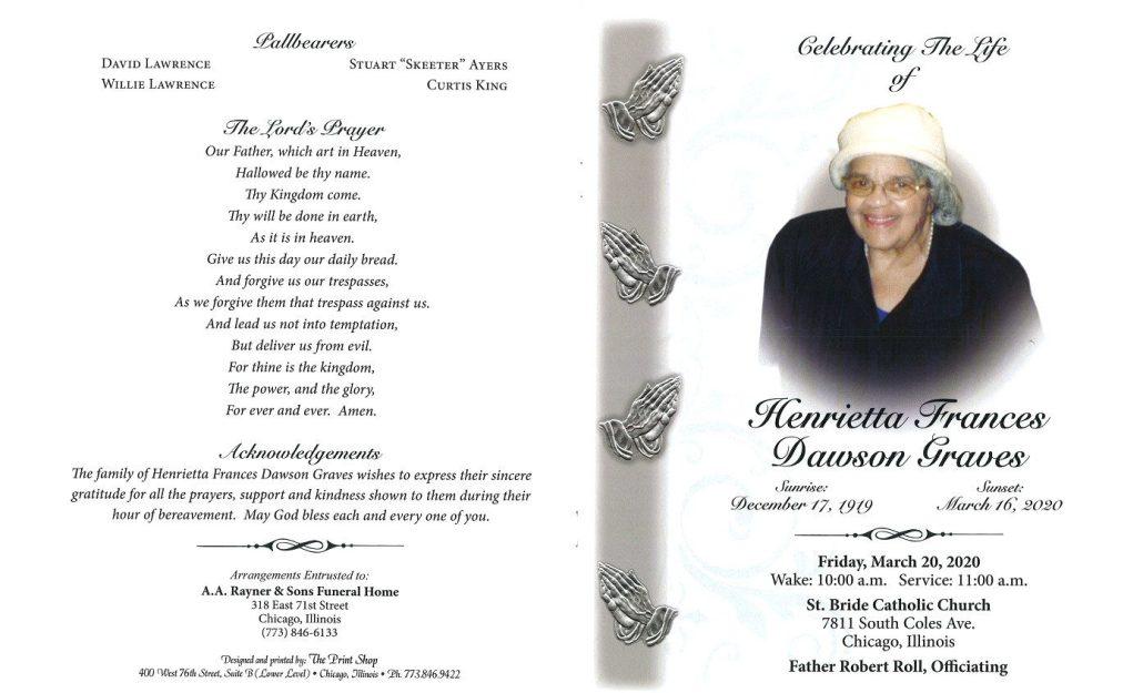 Henrietta Graves Obituary