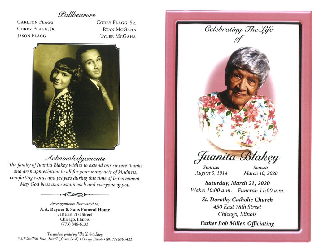 Juanita Blakey Obituary
