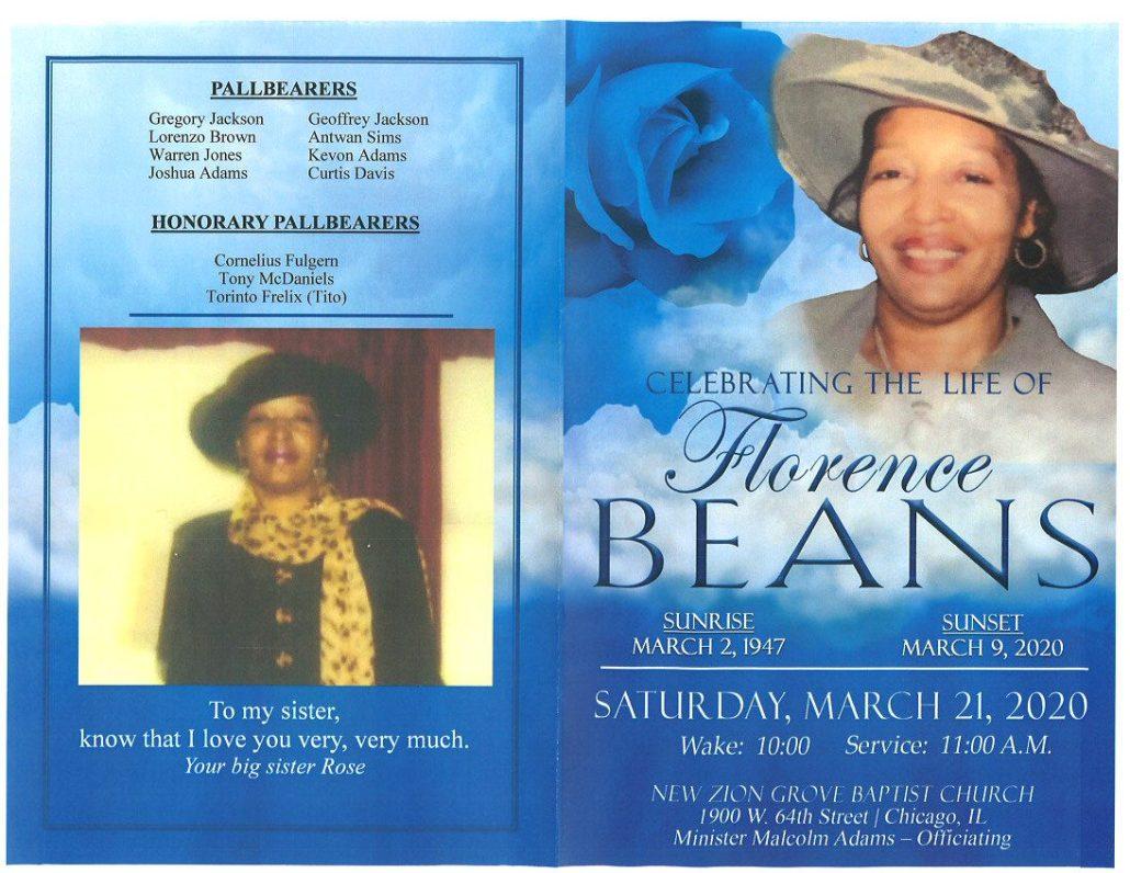 Florence Beans Obituary