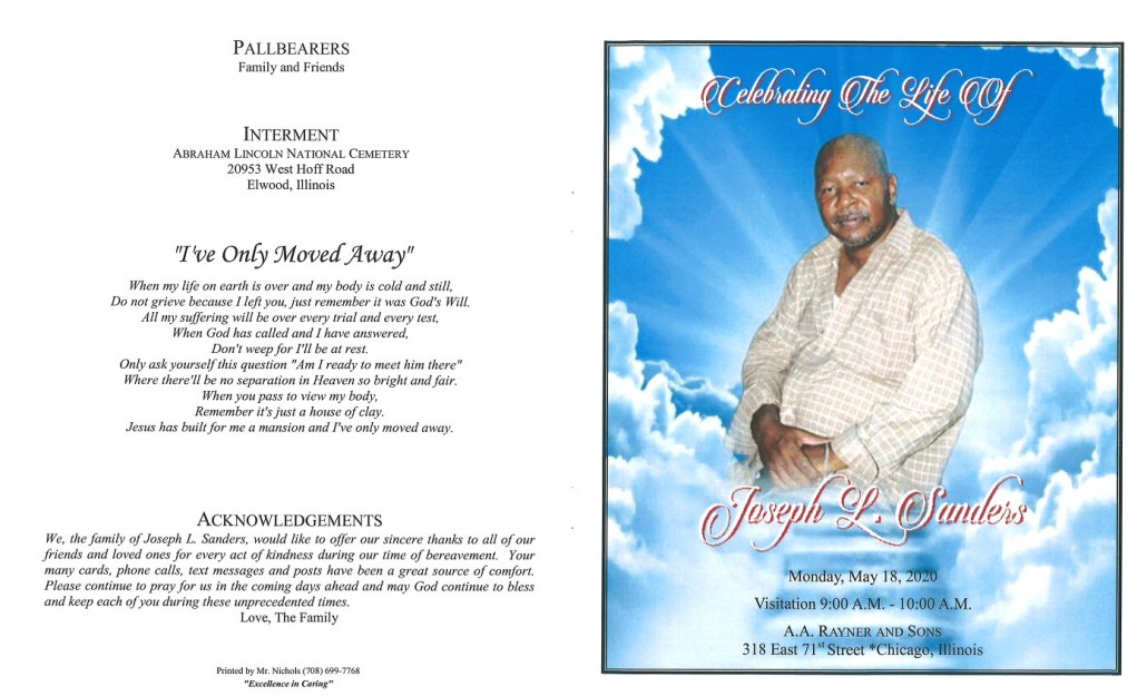 Joseph L Sanders Obituary