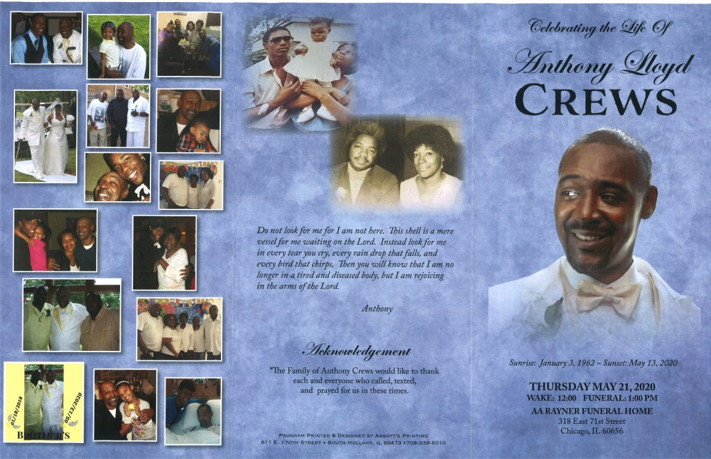 Anthony L Crews Obituary