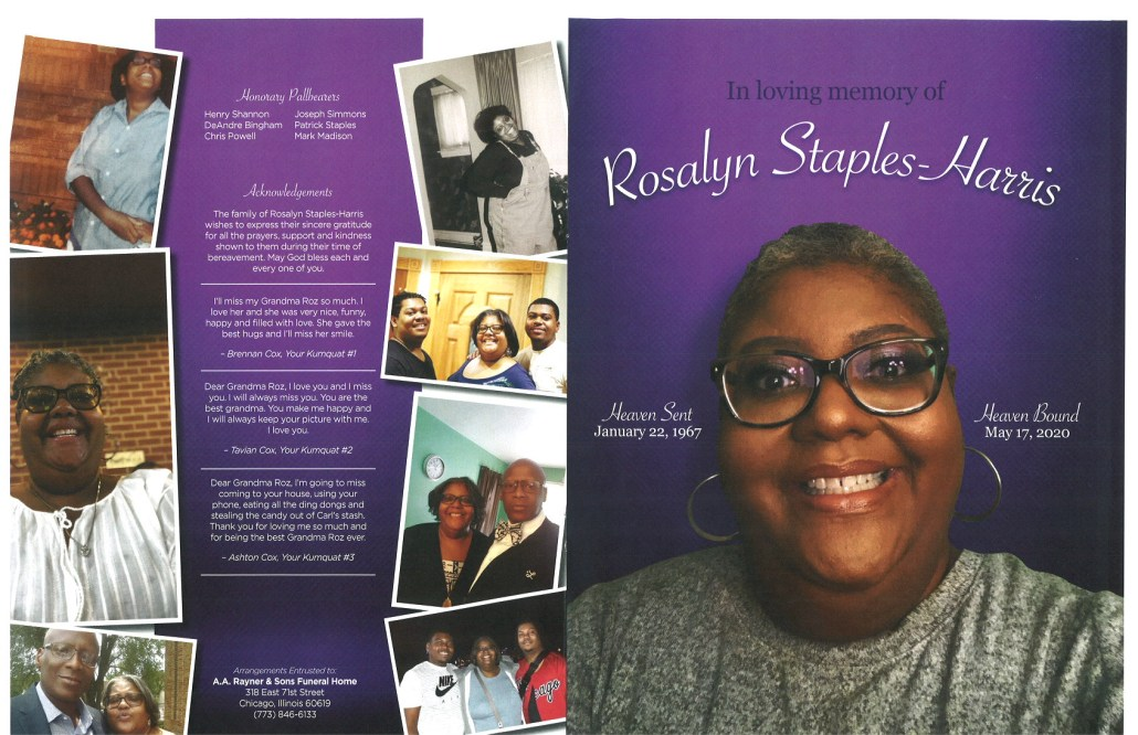 Rosalyn Staples Harris Obituary