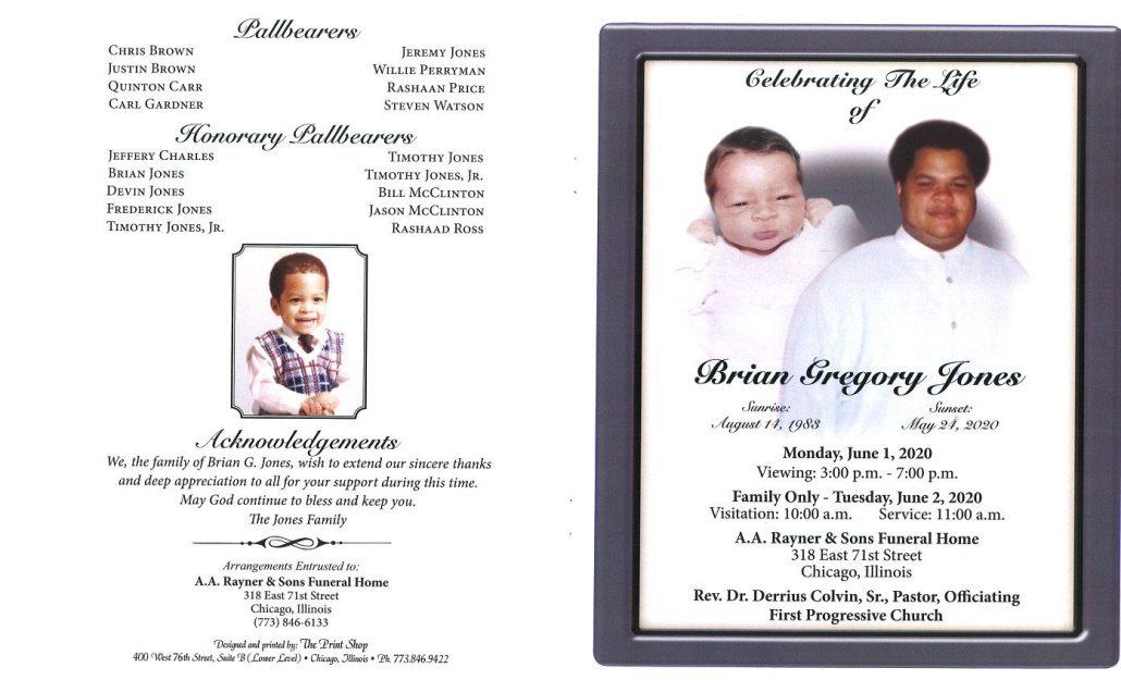Brian G Jones Obituary