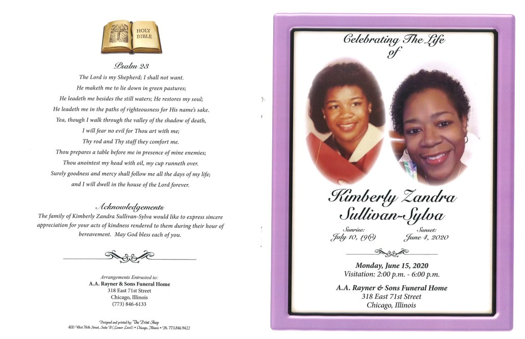 Kimberly Syllivan Sylva Obituary