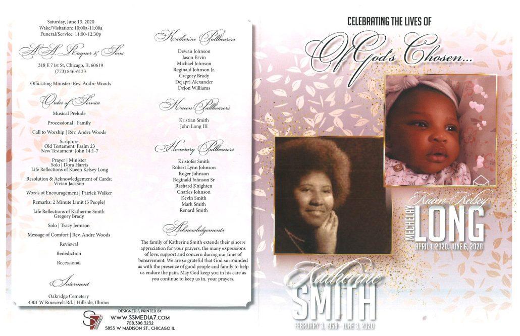 Katherine Smith and Kueen Long Obituary