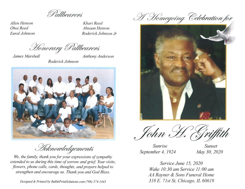John H Griffith Obituary