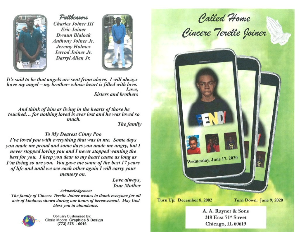Cincere T Joiner Obituary