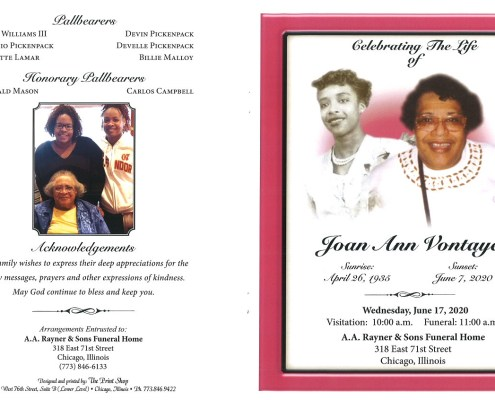 Joan Ann Vontayes Obituary