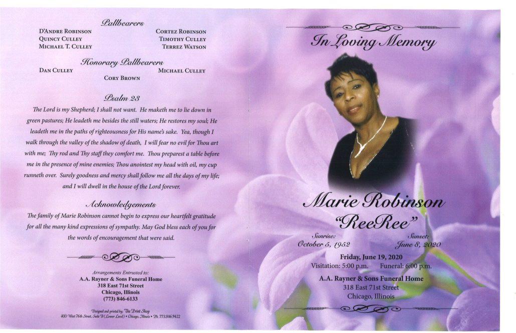 Marie Robinson Obituary