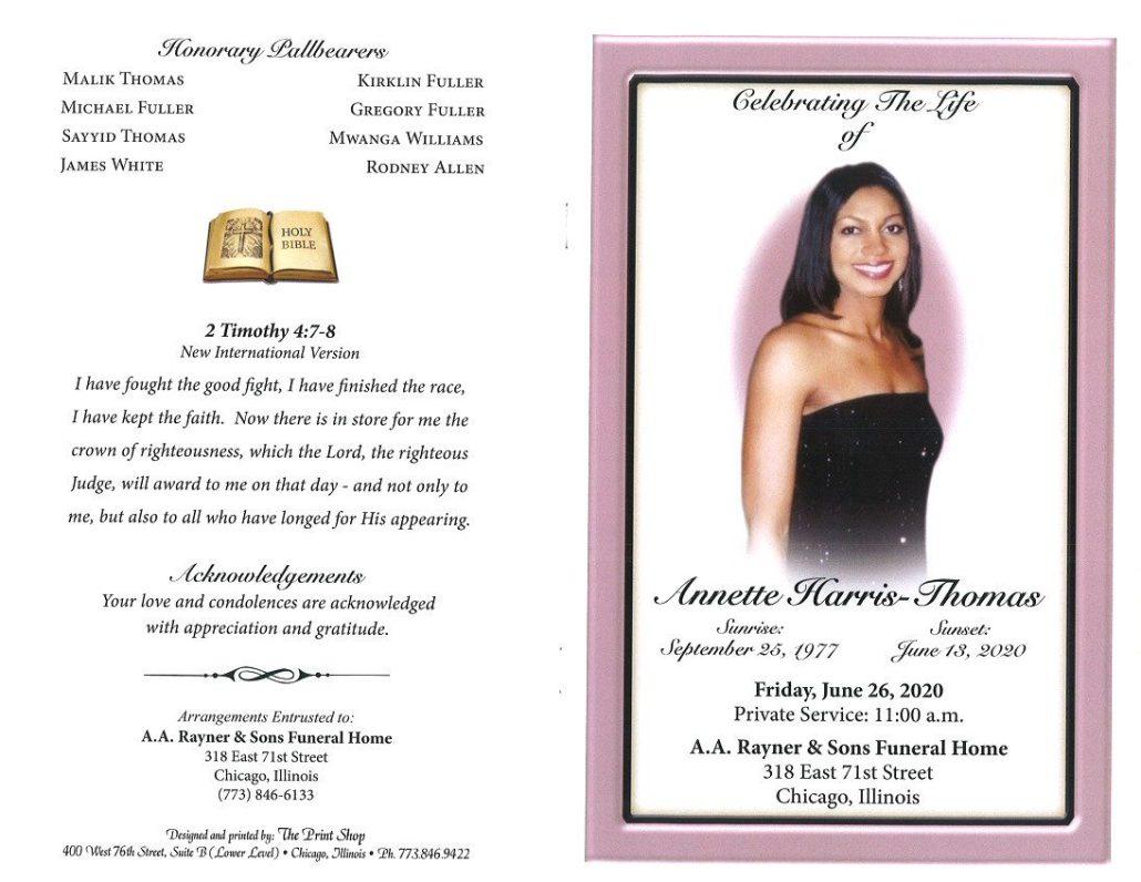 Annette Harris Thomas Obituary