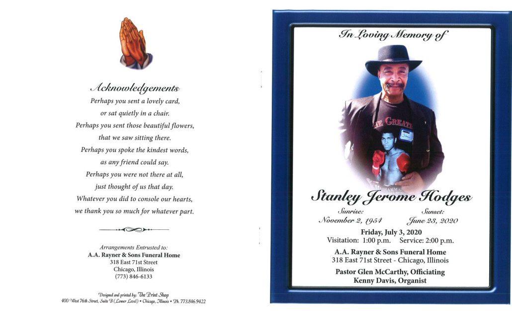 Stanley J Hodges Obituary