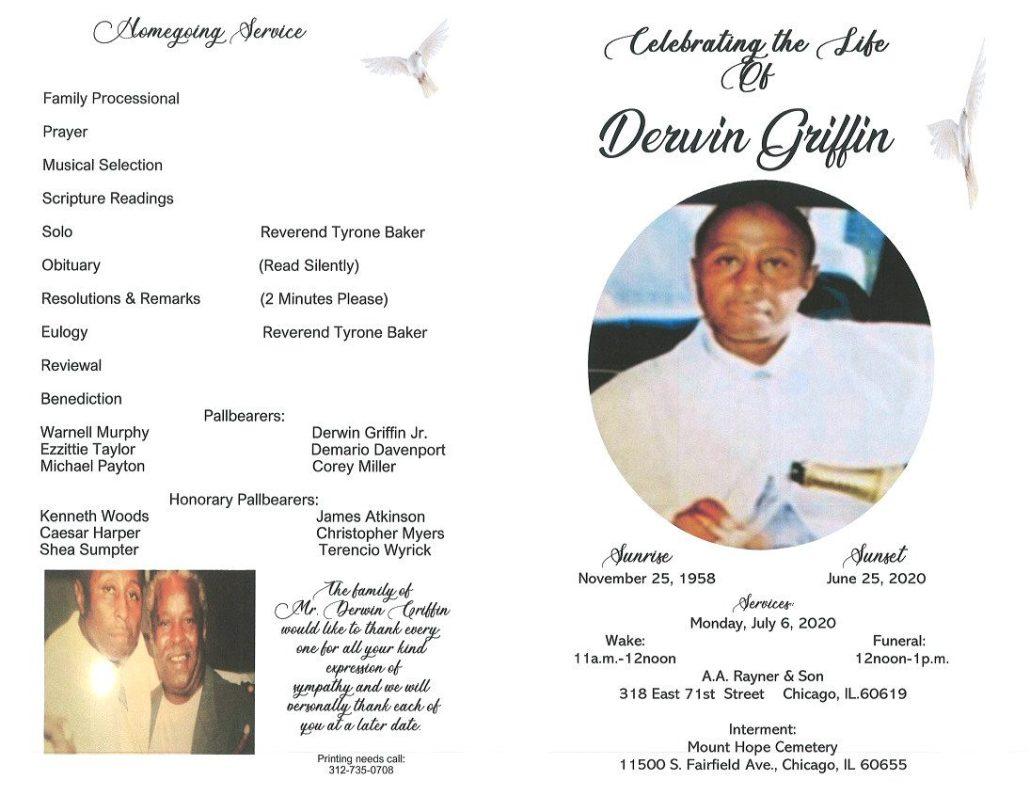 Derwin Griffin Obituary