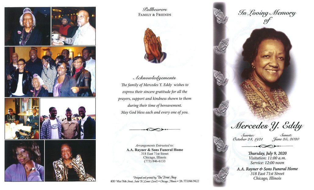 Mercedes Y Eddy Obituary