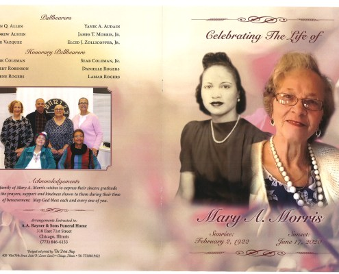 Mary A Morris Obituary