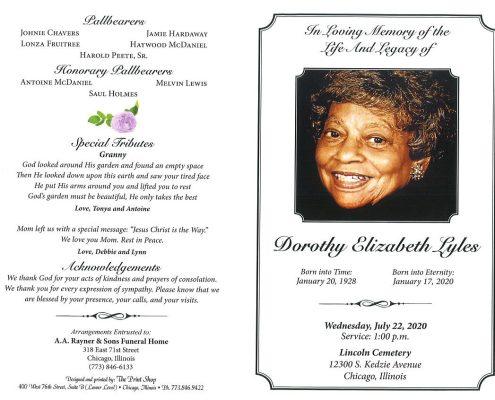 Dorothy E Lyles Obituary