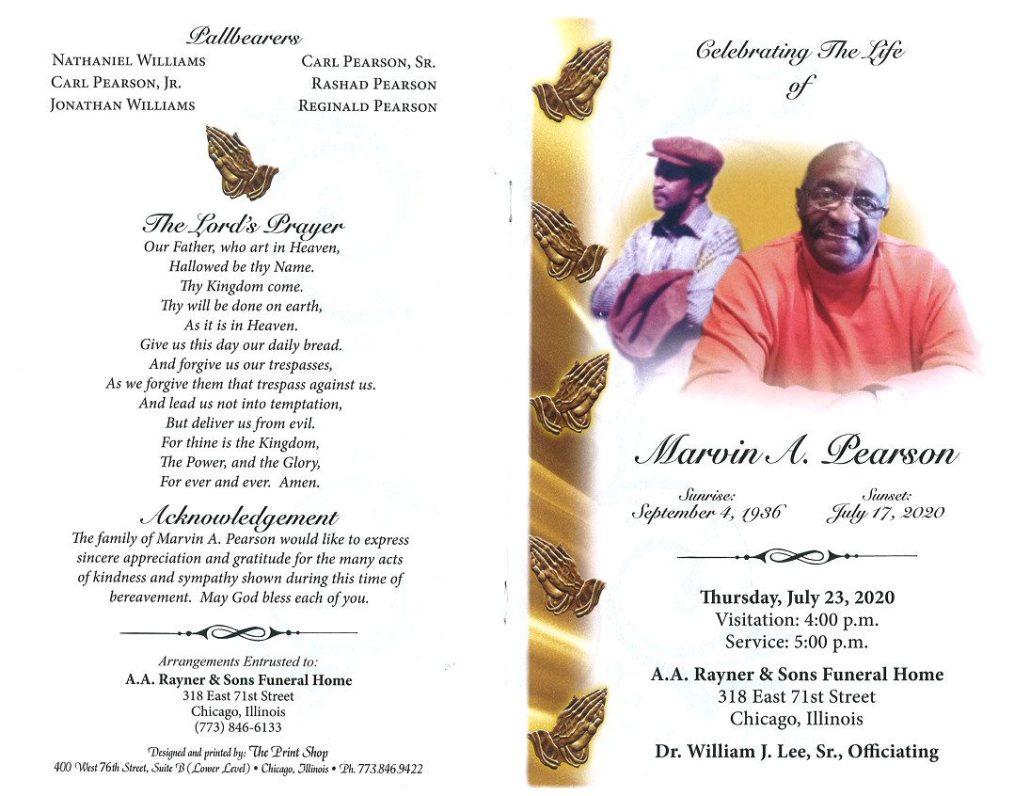 Marvin A Pearson Obituary