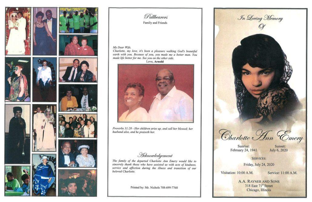 Charlotte A Emery Obituary