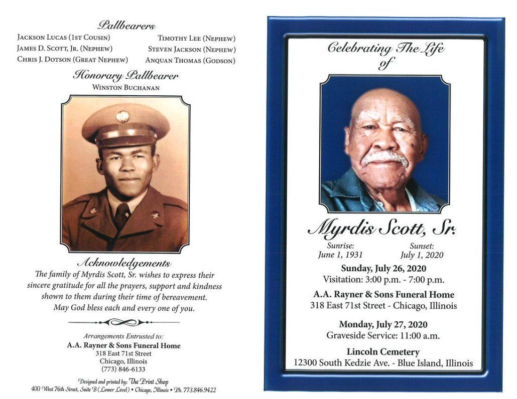 Myrdis Scott Sr Obituary