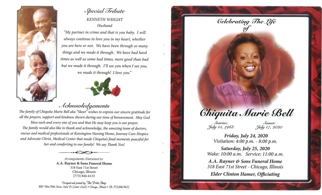 Chiquita M Bell Obituary