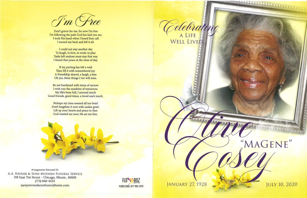 Olive Cosey Obituary